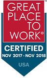 Great Place to Work Certified: Nov 2017 - Nov 2018